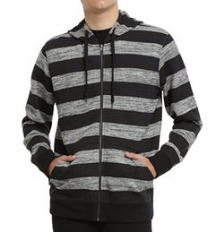 Rude - Striped Zip Hoodie