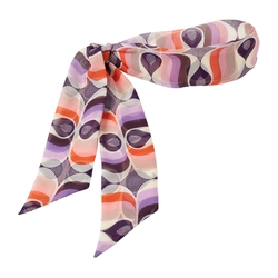 Ocean Beach - Ocean Beach Silk Print Long Head Scarf