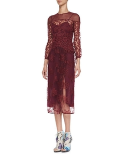 Burberry Prorsum - Floral-Embroidered Tulle Dress