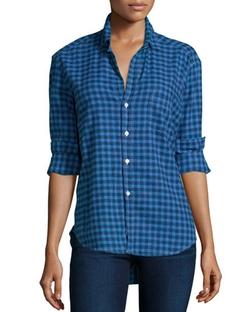 Frank & Eileen - Eileen Button-Front Check-Print Shirt