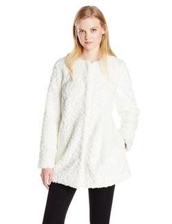 Sam Edelman - Faux-Fur Imprinted Coat