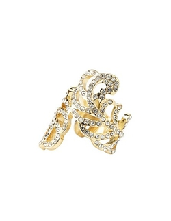 Charlotte Russe - Rhinestone Feather Wrap Ring