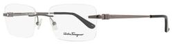 Salvatore Ferragamo - Shiny Gunmetal Eyeglasses