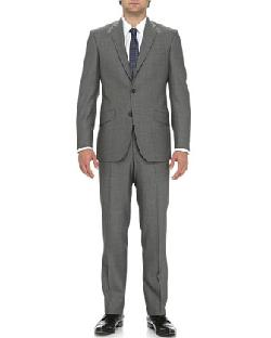 Ted Baker  - Two-Piece Birdseye Suit, Gray