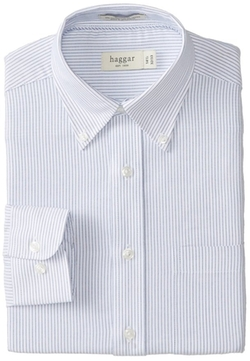 Haggar - Stripe Oxford Button-Front Shirt
