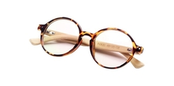 Glasses By Me - Retro Round Tortoise Eyeglasses