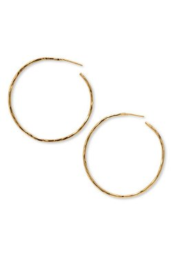 Argento Vivo  - Hammered Large Hoop Earrings
