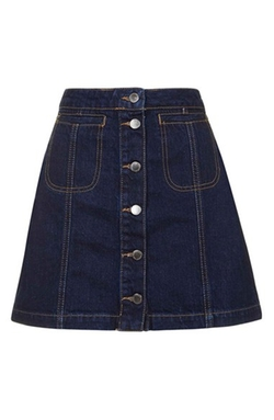 Topshop - Button Front Denim Skirt
