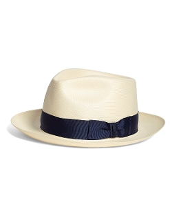 Brooks Brothers - Straw Fedora Hat