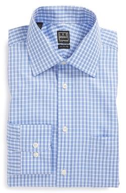 Ike Behar  - Classic Fit Check Dress Shirt