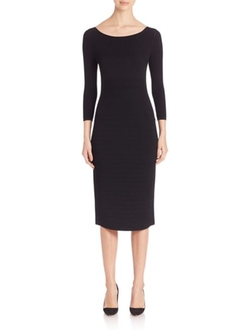 Narciso Rodriguez  - Linear Double-Knit Sheeath Dress