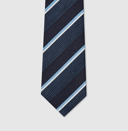 Gucci - Striped Silk Viscose Tie