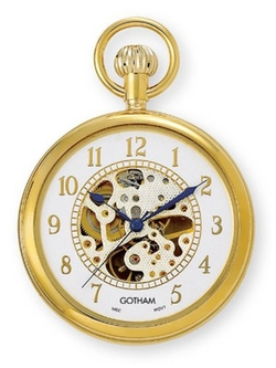 Gotham - Open Face Pocket Watch