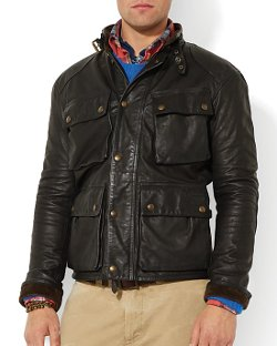 Polo Ralph Lauren  - Southbury Leather Bike Jacket