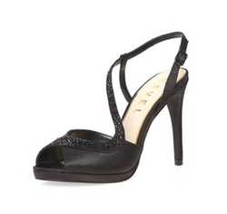 Dorothy Perkins - Ravel Black Peep Toe Sandals