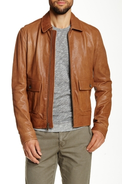Vince - Leather Bomber Jacket