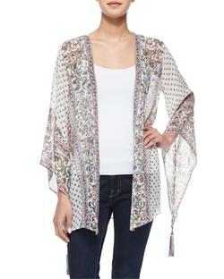 Calypso St. Barth  - Artigas Floral Kimono Cardigan