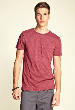 Forever 21 - Heathered Crew Neck T-Shirt