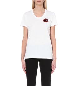 Markus Lupfer - Dani Lip-Embroidery T-Shirt