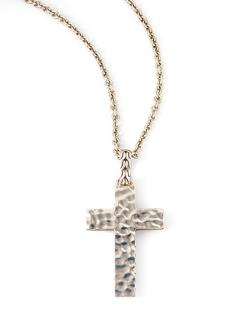 John Hardy  - Blackened Palu Cross Necklace
