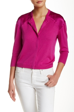 Magaschoni  - Silk & Cashmere Sleeve Cardigan