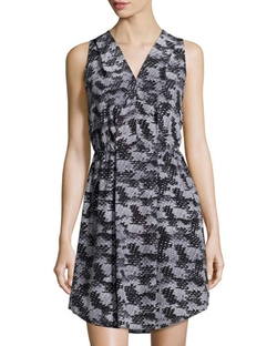 Rebecca Taylor   - Abstract-Print Silk Cutout Dress