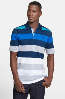 Paul & Shark - Stripe Cotton Piqué Polo