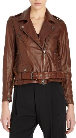 3.1 PHILLIP LIM  - Lace-Up Moto Jacket