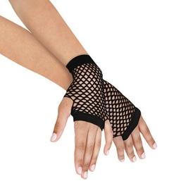 Leegoal - Short Fishnet Fingerless Mesh Gloves