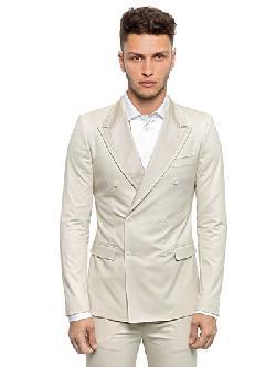 Dolce & Gabbana   - Slim Fit Stretch Cotton/Silk Canvas Suit