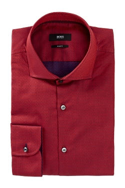 Hugo Boss - Jery Slim Fit Dot Dress Shirt