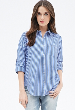 Forever21 - Striped Button-Down Shirt