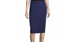 Eileen Fisher  - Silk-Cotton Pencil Skirt
