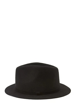 Forever 21 - Faux Suede Band Wool Fedora Hat