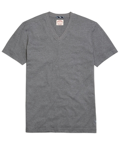 Brooks Brothers - Recycled Fiber Basic V-Neck Tee Shirt