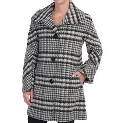 Ellen Tracy - Wool Plaid A-Line Coat