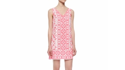 Alice & Trixie  - Sleeveless Tile-Print Shift Dress