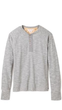 Rag & Bone Standard Issue - Long Sleeve Raglan Henley Shirt