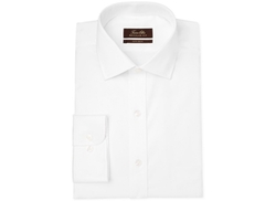 Tasso Elba  - Non-Iron White Twill Solid Dress Shirt