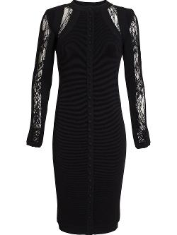Antonio Berardi  - Buttoned Lace Inset Dress