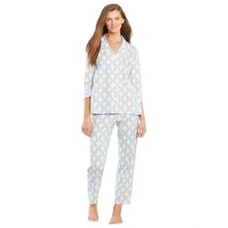 Ralph Lauren  - Floral Plaid Cotton Pajama Set