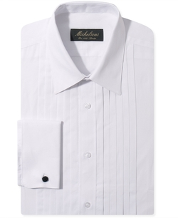 Michelsons Of London - Pleated Point French Cuff Tuxedo Shirt