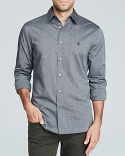John Varvatos Star USA - Peace Sign Button Down Shirt