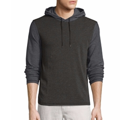 John Varvatos Star USA - Two-Tone Pullover Hoodie