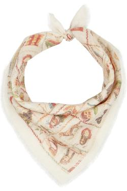 THE ELDER STATESMAN  - + Wear LACMA Printed cashmere scarf