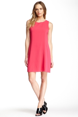 Alice + Olivia  - Trina Bow Back Silk Blend Tunic Dress