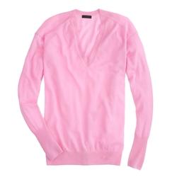 J.Crew - Cashmere V-Neck Boyfriend Sweater