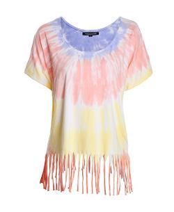 Chicnova - Tie-dye Tassels Round Neckline T-Shirt