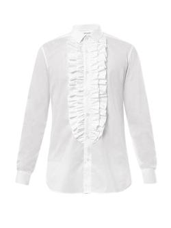 Saint Laurent  - Ruffle-front Dinner Shirt
