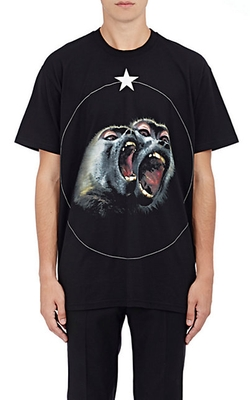 Givenchy - Monkey- & Star-Graphic T-Shirt